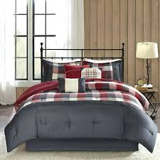 black queen bedding set red black plaid queen comforter set cabin lodge holiday theme black queen