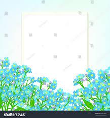 Shining Light Garden Vector Card Small Blue Flowers On Stock Vector Royalty Free
