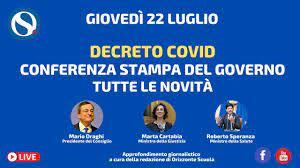 Green Pass, conferenza stampa di Draghi con Cartabia e Speranza - YouTube