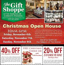christmas open house flyer christmas open house at the shrine of christs passion nwi living