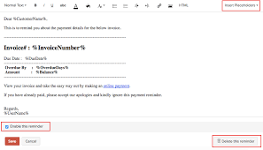 Email Reminder Reminders Help Zoho Books