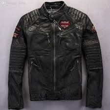 fall men do the old punk style leather jacket men motorcycle leather jacket zipper cuffs mens leather jacket jaqueta de couro py 30 jacket work jacket crown