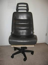 office chair from junked car seat nice leather by marjorie car seat office chairs