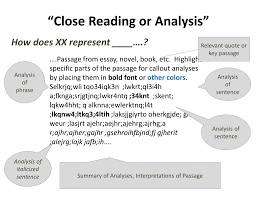 posters sotl guide close reading or analysis of student text close reading