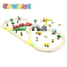 wooden train set train set color bridge electric toy site beech wooden railway track gifts for kids