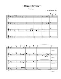 happy trombone sheet music download happy birthday for flute clarinet trumpet or trombone
