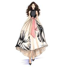Model Dress Design Drawing Pin By S On Fash Dress Sketches Fashion Illustration