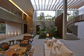 House Interior Garden Design Indoor Garden Glass Roof Contemporary Home In Nova Lima
