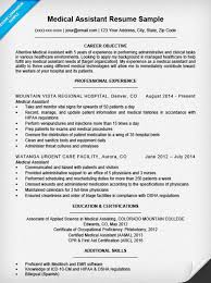 Medical Assistant Resumes Examples Resume And Cover Letter