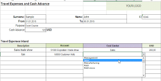 expenses report excel travel expense report kays makehauk co
