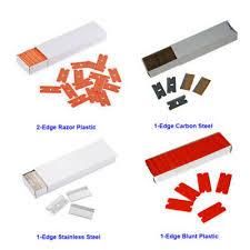 <b>100PCS PLASTIC RAZOR</b> BLADES WINDOW SCRAPER ...