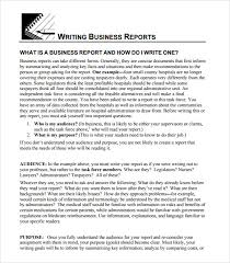 Formal Business Report Example   Business Report Template Example     Related For    business reports format