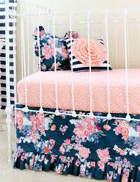 solid blue crib bedding set wonderful navy fl on sweet jojo designs navy blue and grey