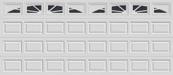 16 short panel clopay premium series garage door sunset 503 windows