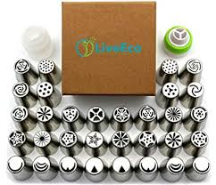 Amazon Com Russian Piping Tips 58pc Set By Liveeco