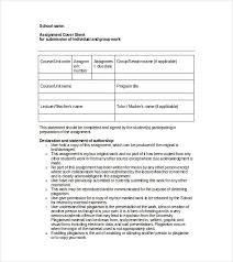 Cover For Assignment Template Cover Sheet Template 10 Free Word Pdf Documents Download