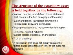 expository writing  conclusion 5 the structure of the expository