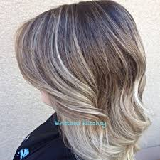Ashy Blonde And Brown Ombre Hair