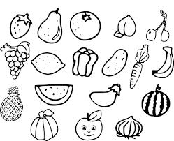 Coloriage De Fruit Et Legume