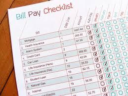 Bill Calendar Template Magnificent Printable Bill Pay Checklist