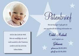 Patenbrief Für Die Taufpaten Taufe Din A4 O A5 Patenschein Kirche