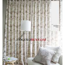 Unique Design Newspaper Cotton and Linen Home Office Curtains Buy