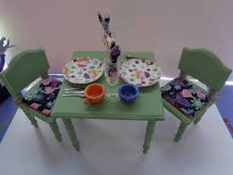 18 Inch Doll Kitchen Table Chairs And Accessories For American Girl