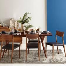 Mid century modern kitchen table Metal West Elm Midcentury Expandable Dining Table West Elm