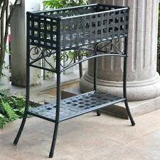 tall outdoor plant stand wrought iron plant shelves metal plant pot stands front porch within metal tall outdoor plant stand