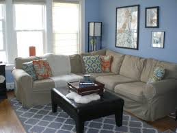 house furniture design ideas. Wonderful Home Furniture Design Ideas With Blue Gray Sofa : Dazzling Using L Shaped House