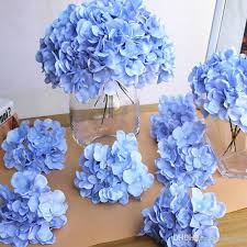 diy artificial hydrangea flower head fake silk single real touch hydrangeas for wedding centerpieces home party decorative flowers by