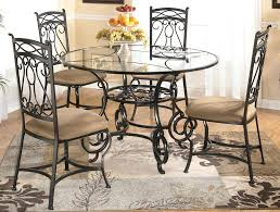 round glass top dining room table custom sets set with chairs 6 ta