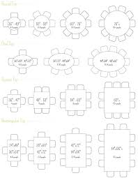 round table sizes round table size seating chart designs rectangular table sizes for weddings round table