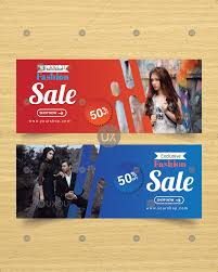 Fashion Banner Abstract Fashion Web Banner Template Design With Photo Vector Uxoui
