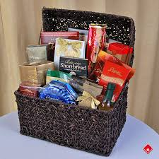 gourmet gift items in a trere chest