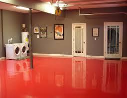 Delighful Basement Flooring Paint Ideas Red Epoxy Floor On Decorating