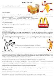 supersize me worksheet answers worksheets library  supersize me worksheet answers