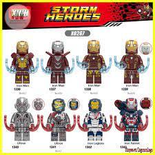 Minifigure siêu anh hùng lego marvel nhân vật Iron Man Ultron X0267