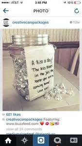 idea for care packages kisses jar presents for boyfriend best boyfriend gifts boyfriend