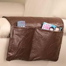 armrest organizer caddy leather sofa couch remote control holder regarding armchair storage plan 14