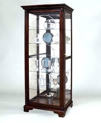 wooden display cabinets with glass doors curio cabinet with glass door display small wooden display cabinet