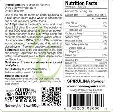 Buy Transition Nutrition 16 Oz Spirulina Powder Inca Raw