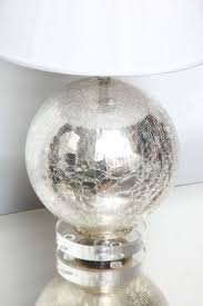 Mercury Glass Globes With Lights Crackle Mercury Glass Globe Lamps At 1stdibs