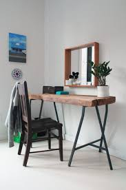 home office wood desk. Furnitures:Home Office Decor With Reclaimed Wood Desk And Chair Home F