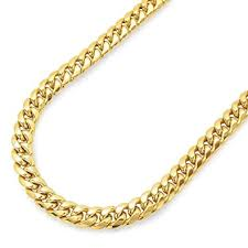 amazon 14k yellow gold miami cuban link chain necklace with box lock clasp 8 0mm thick and heavyweight 18 0 jewelry