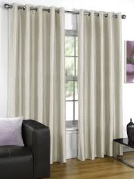 Silk Curtains For Living Room Silk Cream Eyelet Curtains