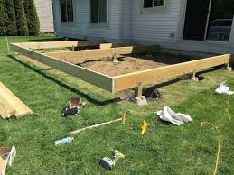 free standing ground level deck plans masterpaul info