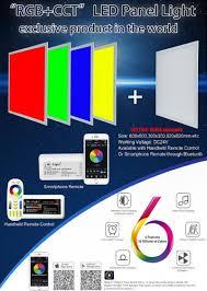 Wifi App Color Temperature Adjustable Cct Rgb Led Panel Lamp