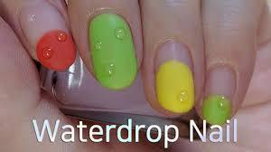 Water drop Nail Art Tutorial (Gel nails) - YouTube