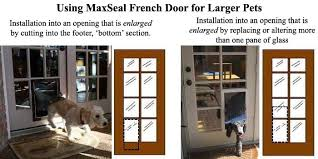 dog doors for french doors. French Doors With A Dog Door | MaxSeal High Performance Pet For